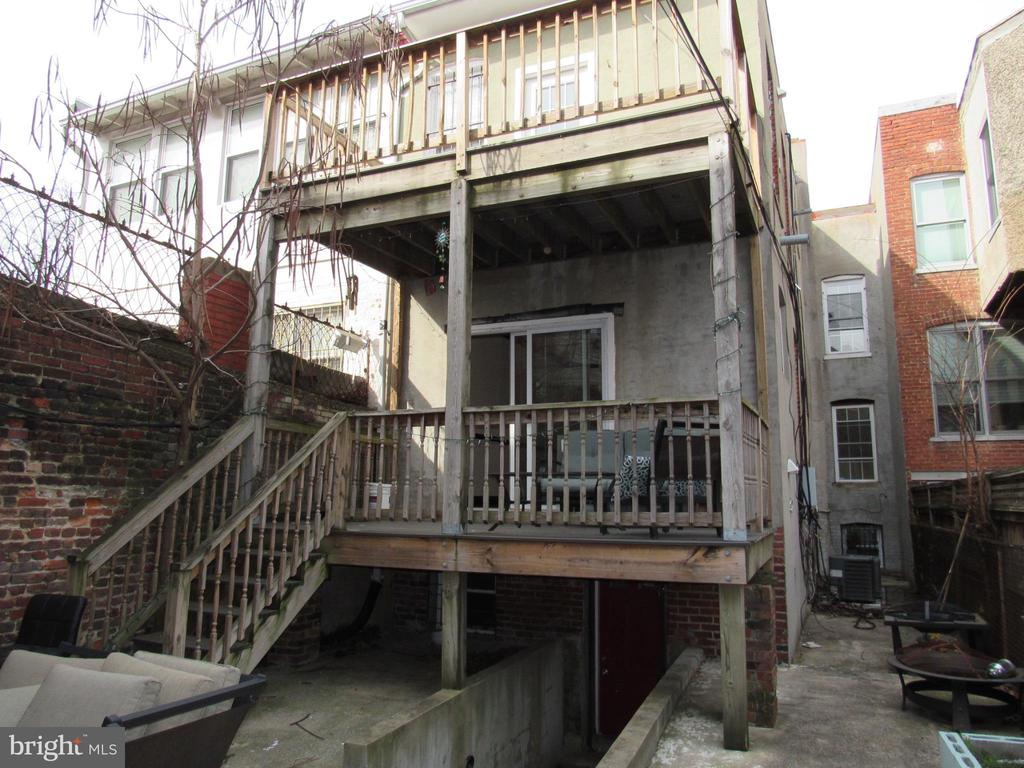 Rear of building - 1803 2ND ST NW, WASHINGTON