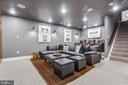 Basement Rec Room Theatre - 8511 CATHEDRAL FOREST DR, FAIRFAX STATION
