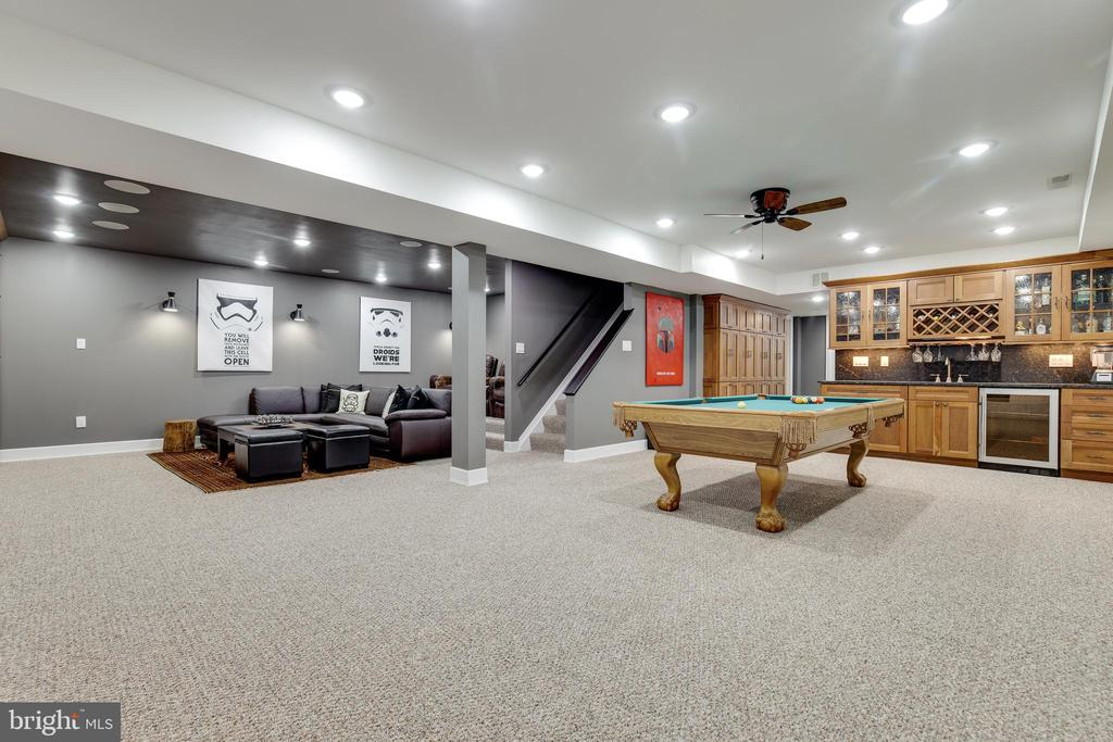 Basement Rec Room Layout - 8511 CATHEDRAL FOREST DR, FAIRFAX STATION