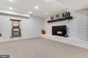 Basement Rec Room Wood Burning Fireplace - 8511 CATHEDRAL FOREST DR, FAIRFAX STATION