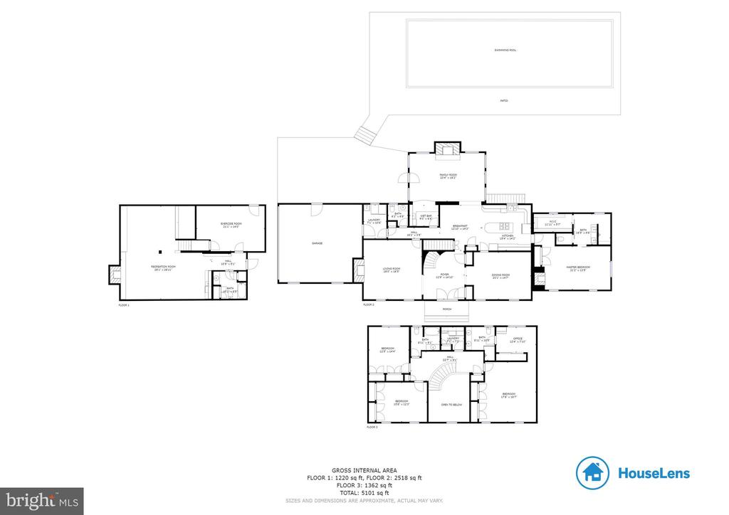 Whole House Floor Plans - 8511 CATHEDRAL FOREST DR, FAIRFAX STATION