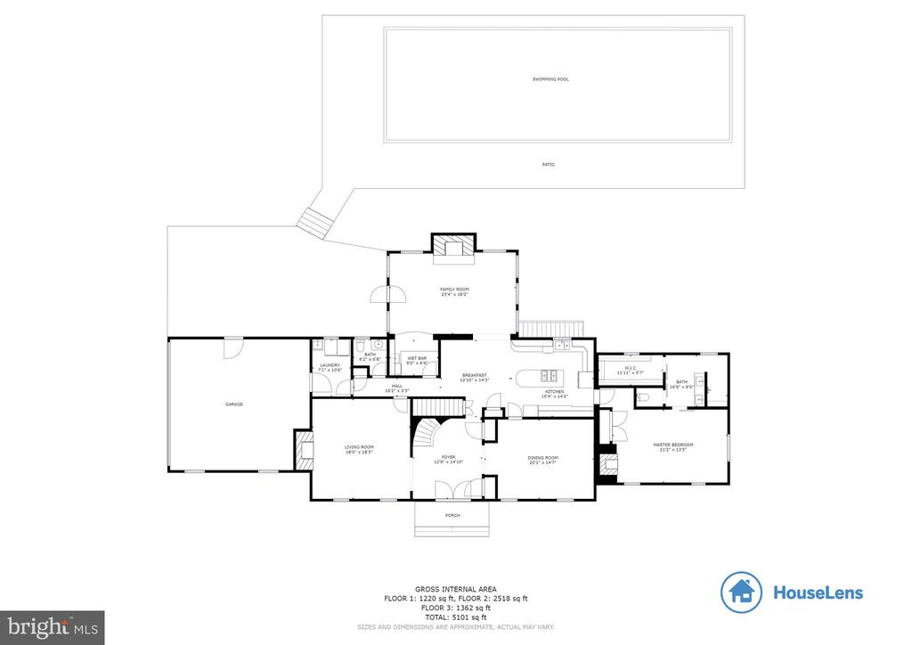 Main Level Floor Plan - 8511 CATHEDRAL FOREST DR, FAIRFAX STATION