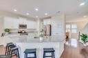 Kitchen - White cabinets and white granite - 46673 JOUBERT TER, STERLING