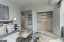 Bedroom 2 has closet system - 2425 L ST NW #203, WASHINGTON
