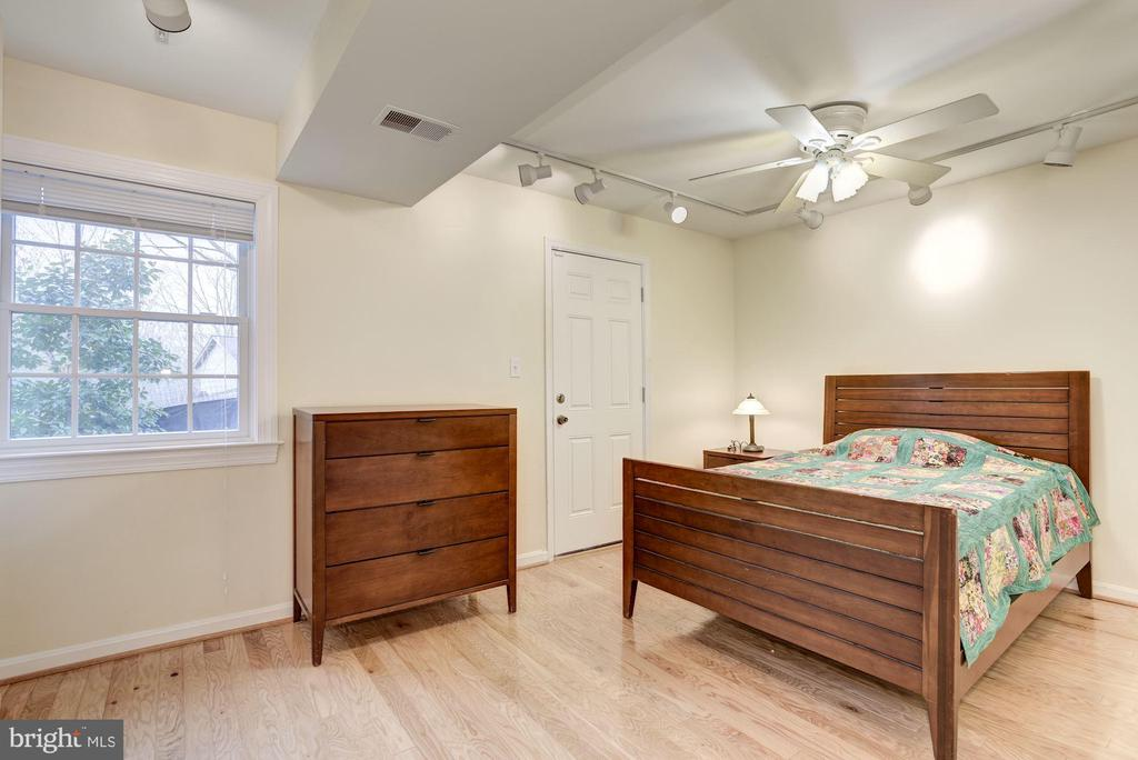 Bedroom #3 has exit to outside. - 1401 EARNSHAW CT, RESTON