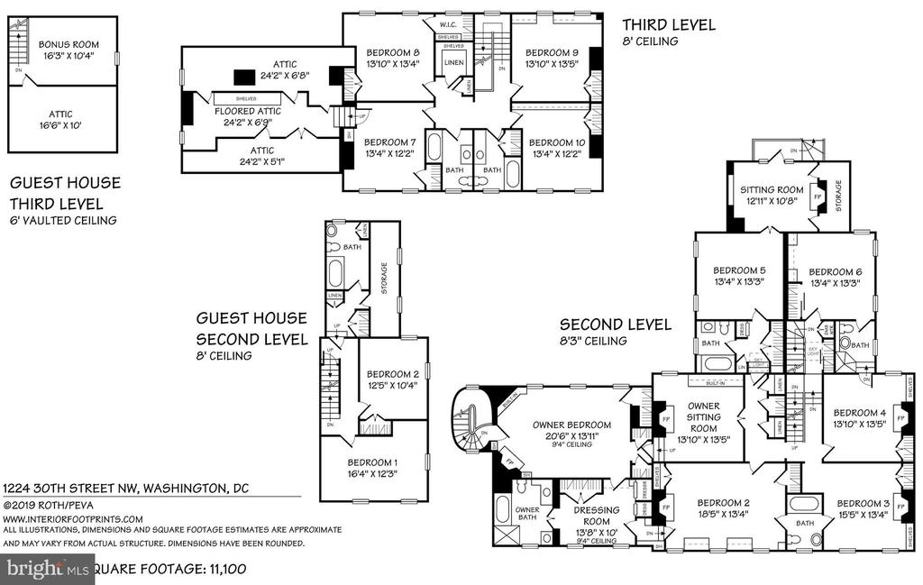 2nd, 3rd, Guest/Staff Floor Plan - 1224 30TH ST NW, WASHINGTON