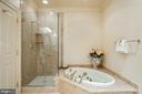 Second Master Jetted Tub and Walk-in Shower - 896 ALVERMAR RIDGE DR, MCLEAN
