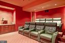 Media Room - 896 ALVERMAR RIDGE DR, MCLEAN