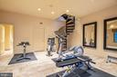 Exercise Rm, Attached Full Bath & Spiral Stair - 896 ALVERMAR RIDGE DR, MCLEAN