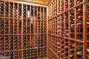 Conditioned Wine Cellar w/ Racking for 2,600 Bottl - 896 ALVERMAR RIDGE DR, MCLEAN