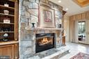 Lower Level Stone Fireplace & Buil-ins - 896 ALVERMAR RIDGE DR, MCLEAN