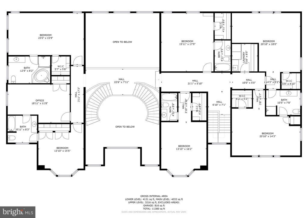 Upper Level Floorplan - 896 ALVERMAR RIDGE DR, MCLEAN