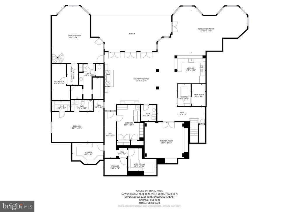 Lower Level Floorplan - 896 ALVERMAR RIDGE DR, MCLEAN