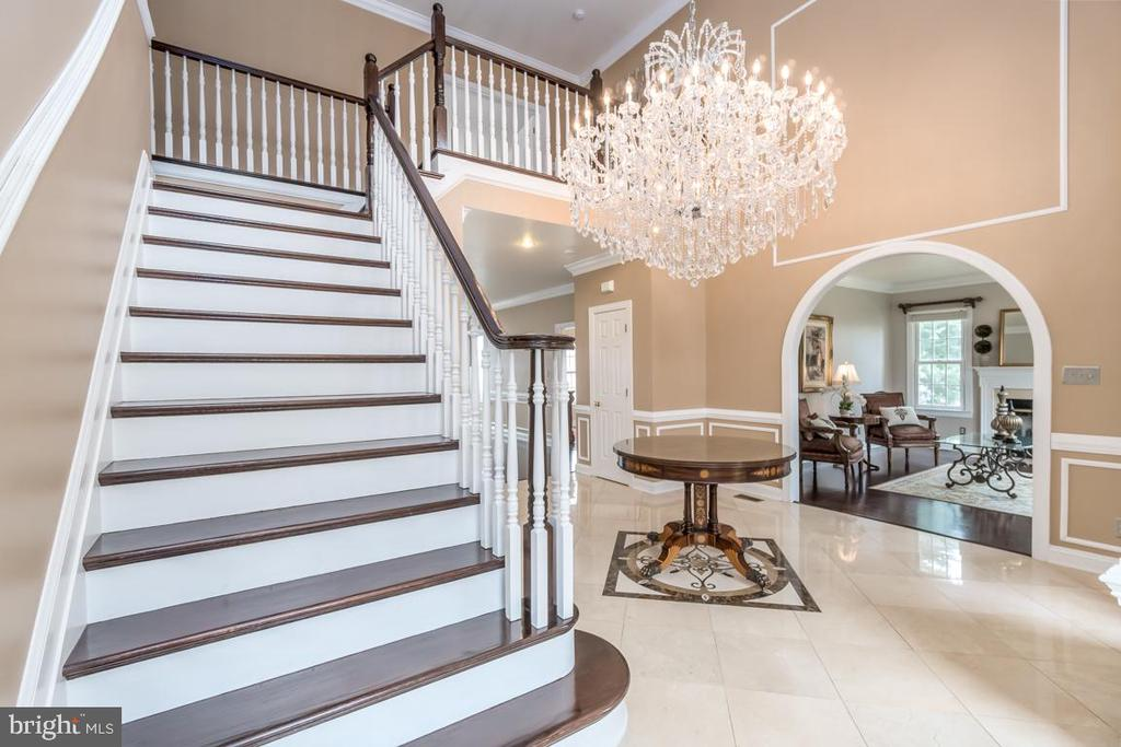 Grand Staircase and Marble Floors in Foyer! - 10810 PERRIN CIR, SPOTSYLVANIA