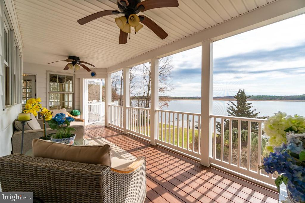 Spectacular views from the screened porch! - 10810 PERRIN CIR, SPOTSYLVANIA