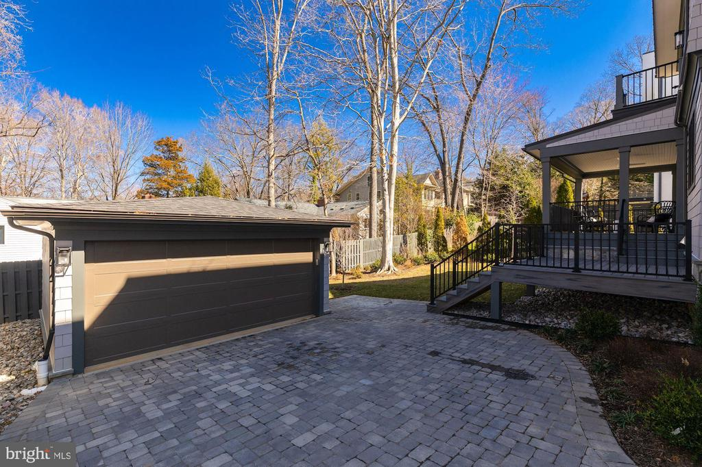 Two-car detached garage and paved driveway - 4909 FALSTONE AVE, CHEVY CHASE