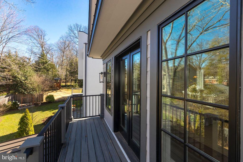 Balcony off owner's bedroom - 4909 FALSTONE AVE, CHEVY CHASE
