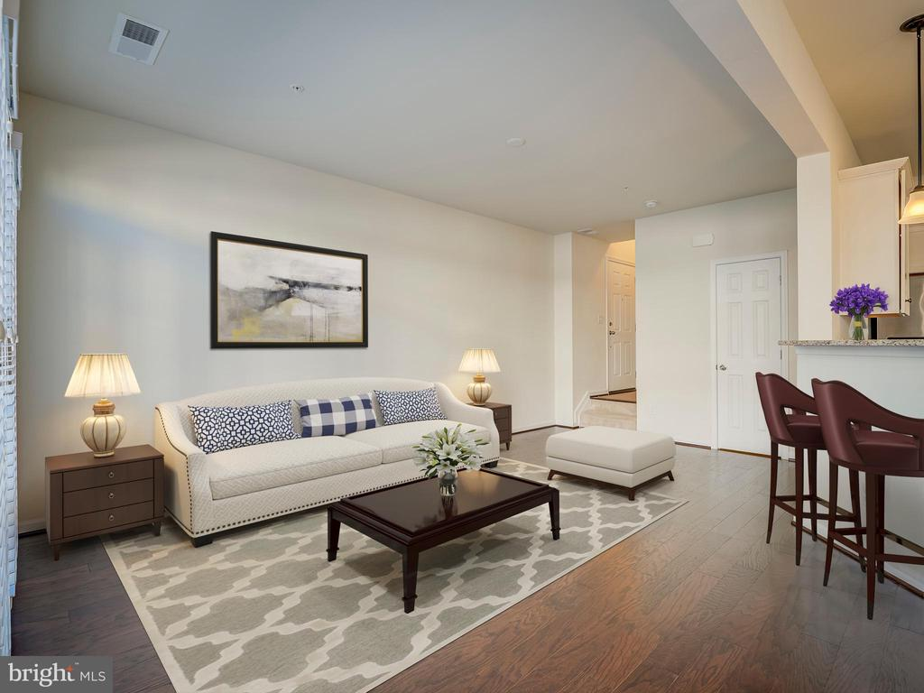 Staged Living Room - 43370 TOWN GATE SQ, CHANTILLY