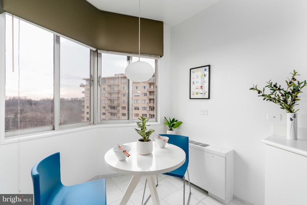 Breakfast nook features views of DC - 2801 NEW MEXICO AVE NW #1122, WASHINGTON