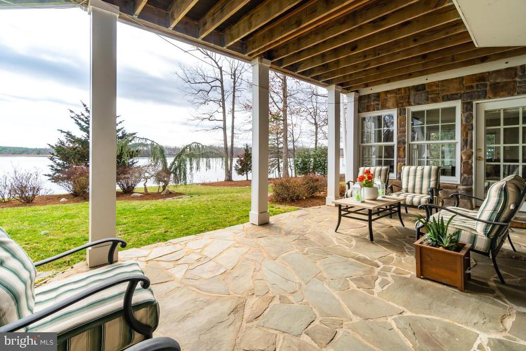 Lakeside  covered Flagstone Patio for entertaining - 10810 PERRIN CIR, SPOTSYLVANIA