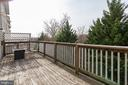 Large deck backing to trees - 13949 HOLLOW WIND WAY #201, WOODBRIDGE