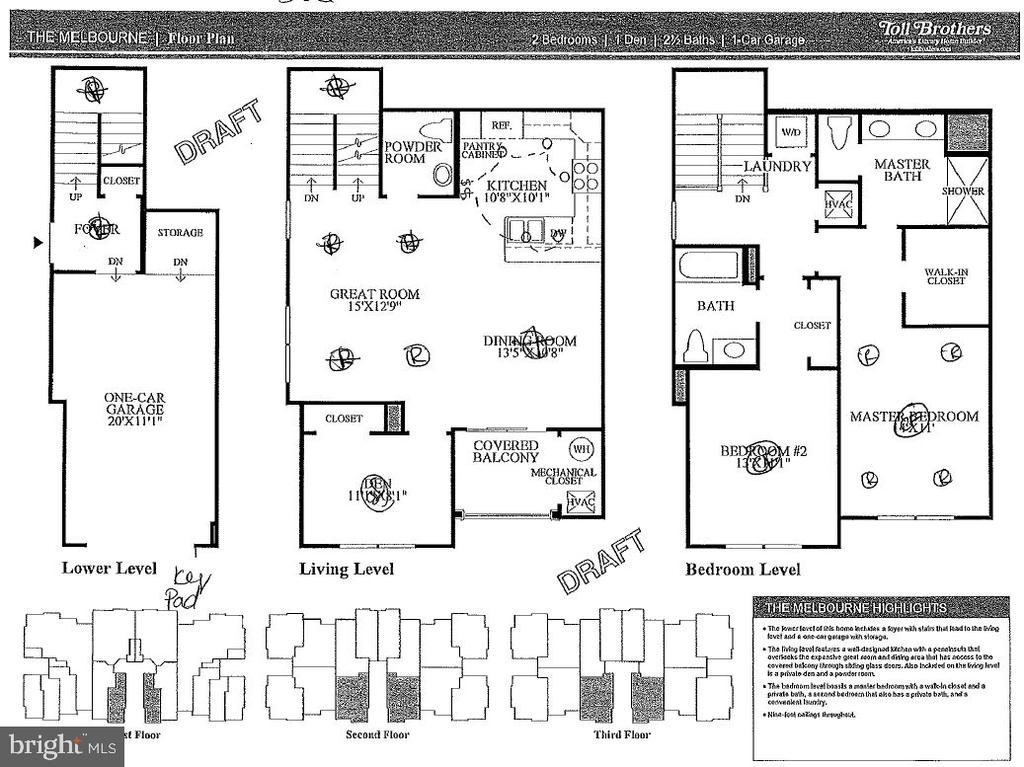 Melbourne Floor Plan - 23290 MILLTOWN KNOLL SQ #106, ASHBURN