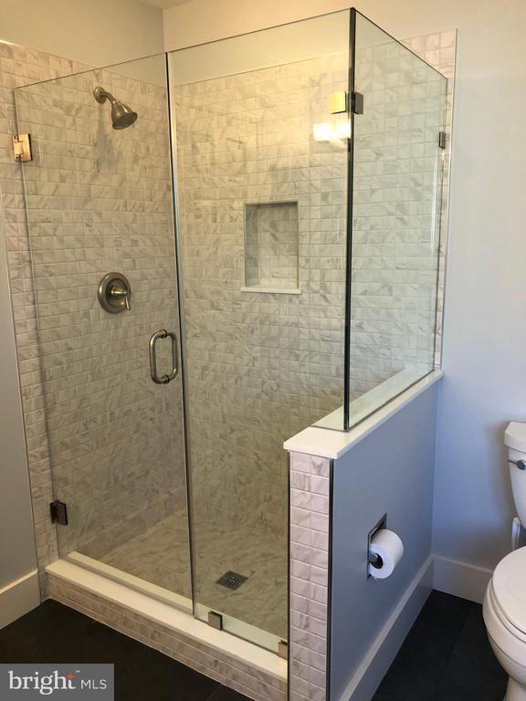 New shower w/custom door and panel installed - 11205 PAVILION CLUB CT, RESTON