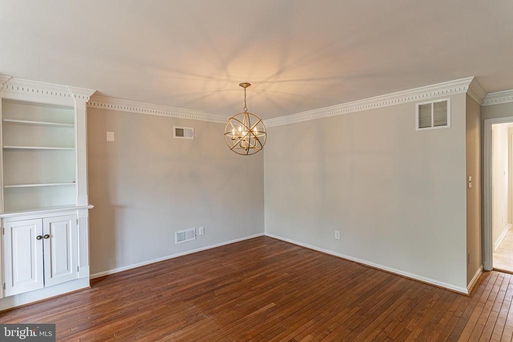 Dining Room with New Light Fixture - 10927 WICKSHIRE WAY #K-3, ROCKVILLE