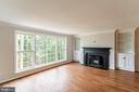 Wood Burning Fireplace with Custom Built-Ins - 10927 WICKSHIRE WAY #K-3, ROCKVILLE