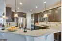 Gourmet Kitchen: Pendant & Recessed Lighting - 3499 EAGLE RIDGE DR, WOODBRIDGE