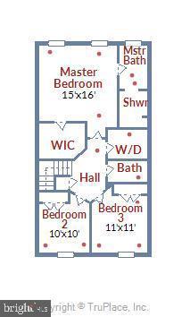 Upper level floor plan - 19709 VAUGHN LANDING DR, GERMANTOWN