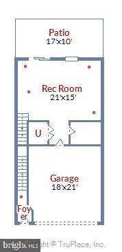 Lower level floor plan - 19709 VAUGHN LANDING DR, GERMANTOWN