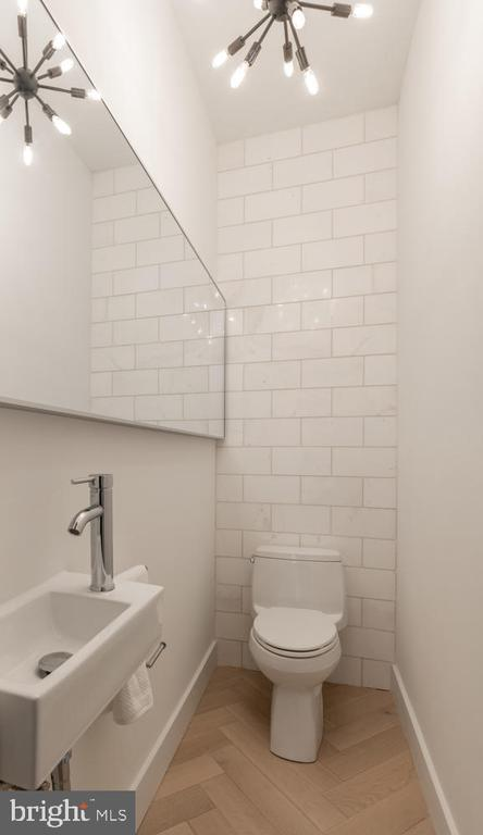 Powder room on main level - 46 R ST NW, WASHINGTON