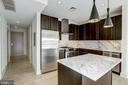 Pendant lighting over kitchen island - 1634 14TH ST NW #404, WASHINGTON