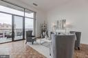 17-ft wall of glass opens to 21-ft private balcony - 1401 N OAK ST #302, ARLINGTON