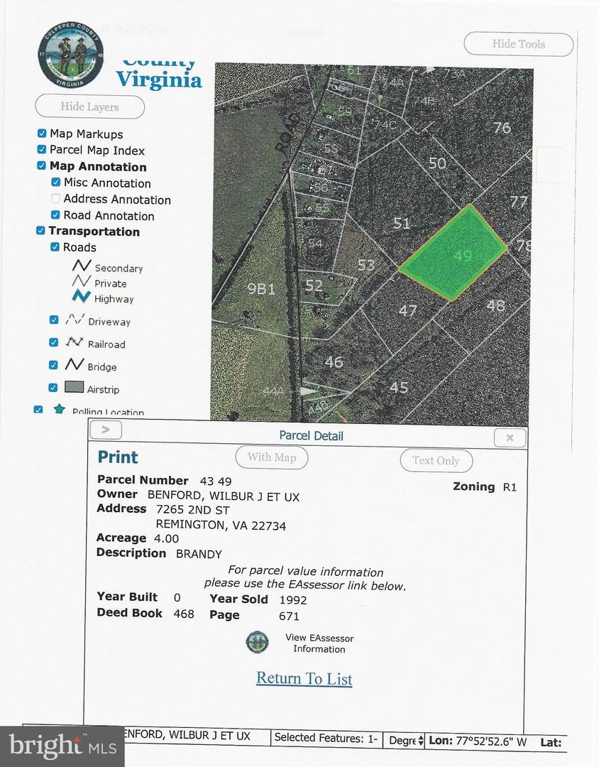 Land for Sale at Brandy Station, Virginia 22714 United States