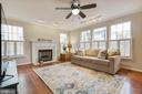 Bright Family Room with Fireplace - 20747 CITATION DR, ASHBURN