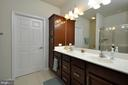 Dual sinks & cherry cabinetry in Master Bathroom! - 219 LONG POINT DR, FREDERICKSBURG