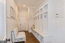 Mudroom w/ Cubbies & Beadboard Wainscoting - 1867 BEULAH RD, VIENNA