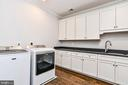 UL Laundry Room w/ Sink Granite Topped Cabinets - 1867 BEULAH RD, VIENNA