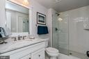 Lower Level Bathroom w/ Marble & Subway Tile - 1867 BEULAH RD, VIENNA