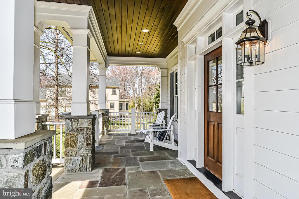 Expansive Front Porch w/ Flagstone & Cedar Ceiling - 1867 BEULAH RD, VIENNA