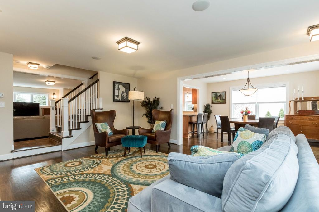 Living Room into dining and family room - 6308 26TH ST N, ARLINGTON