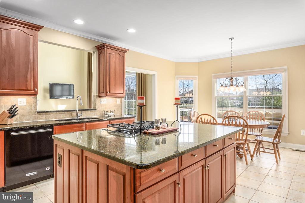 Island Kitchen w/Heated Floors - 19876 BETHPAGE CT, ASHBURN