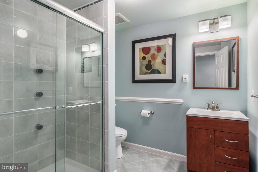 Basement Full Bath w/Heated Floors - 19876 BETHPAGE CT, ASHBURN