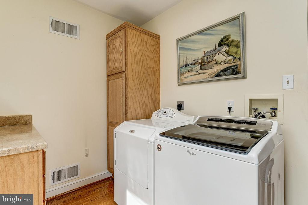 Laundry room located on first floor - 7608 ARROWOOD RD, BETHESDA