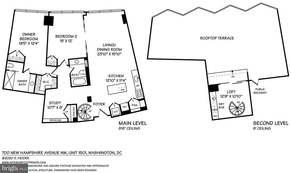 Floor Plan - 700 NEW HAMPSHIRE AVE NW #1501, WASHINGTON