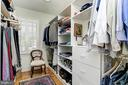Addtional separate closet in master bedroom suite - 7608 ARROWOOD RD, BETHESDA