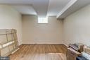 Lower level office or bedroom - 7608 ARROWOOD RD, BETHESDA