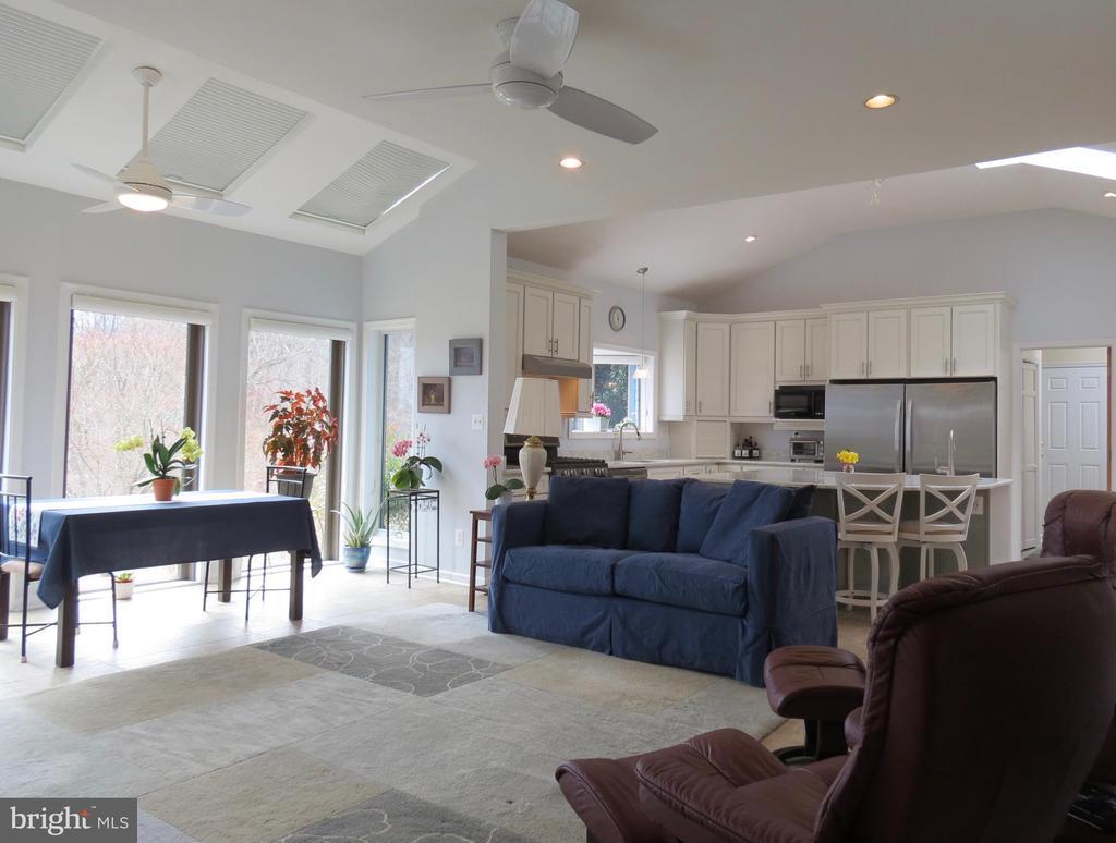 Family Room with heated floor.  Kitchen beyond. - 335 FODDERSTACK RD, WASHINGTON